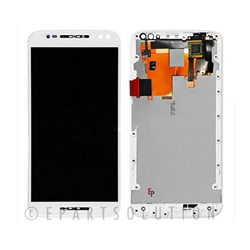 ePartSolution_OEM Motorola Moto X Pure Edition XT1575 LCD Display Touch Screen Digitizer + Frame Assembly Replacement Part (White)