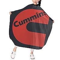 Cummins Logo 散髪ケープ ヘアーエプロン キッズ ヘアカット 家用 美容室 髪の毛剃り 操作やすい 散髪 撥水加工 静電気防止 柔らか 滑らか 高級感 ファッション 男女兼用 ギフト
