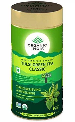 Organic Tulsi Green Tea Classic 100 gms X 2 (2 Pack)