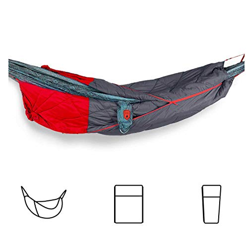 GRAND TRUNK 360 ThermaQuilt 3-in-1 Hammock Underquilt, Blanket and Sleeping Bag (Red/Crimson)