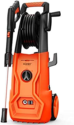 AIPER Electric Pressure Washer 2150 PSI 1.85 GPM Power Washer 1800W Cleaner Machine with Adjustable Nozzle, Long Hose, Hose Reel, and Spray Gun