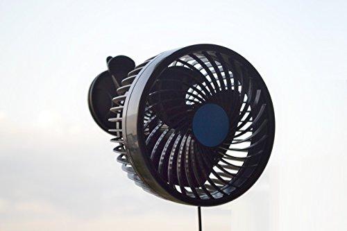 1 x Mini ventilateur de refroidissement avec ventouse Camion caravane Camper camping-car de voiture van Bus benne 24 V 6 W NEUF