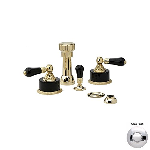 Learn More About Phylrich K4244_026 - Versailles Four Hole Bidet Set W/Vertical Spray, Black Onyx Ha...