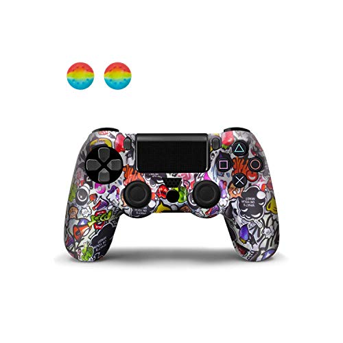 Compatibile con gamepad | Custodia protettiva in silicone per controller PS4 per Sony Pro Custodia protettiva in silicone morbido per Dualshock 4 Gamepad con barra luminosa a LED-Eden-