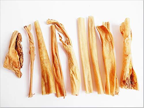 Gedroogd Laag Vet LICHT Venison Huid - voedsel behandelt reeën herten hoofdhuid graanvrije kauwen