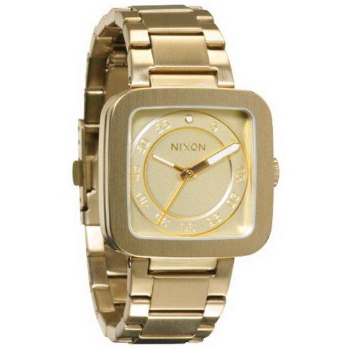 Nixon A189502-00 - Reloj analógico de Cuarzo para Hombre con Correa de Acero Inoxidable, Color Dorado