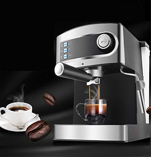 PLEASUR koffiezetapparaat, koffiezetapparaat, volautomatisch espresso van roestvrij staal met commerciële stoomdruk en gebruikt melkschuim