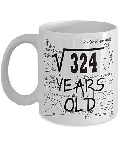 TazadecafédelasmatemáticasRegalosdivertidosdelempollóndelasmatemáticasEstudiantes,Wpresagio,Maestros-Raízcuadradade324-2000,Niñade18años-Ideaspararegalosdecumpleañosnúme