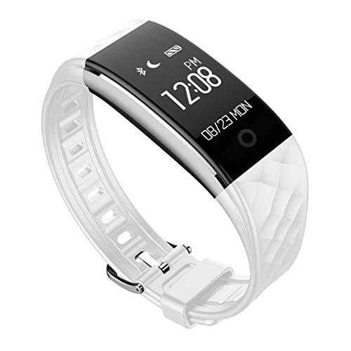 CNMF Fitnessarmband, hartslagmeter, S2 waterdicht IP67, fitnesstracker, activiteitstracker, bluetooth, smartwatches, fiets-paardrijden, compatibel met Android iOS mobiele telefoons