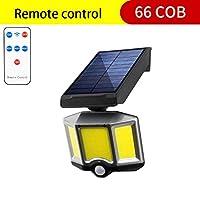 照明を照らす 66 LEDライト屋外人間の調節可能な光防水太陽電池パネルのスポットライトのための庭の通り3モード (Emitting Color : 66 COB with control)