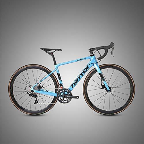 Nueva Bicicleta de Carretera Raid, Fibra de Carbono, Bicicleta de Doble Disco de 22 velocidades, 700C, Carreras de Carretera para Adultos