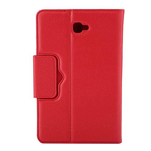 SALALIS Custodia in Pelle per Tastiera, connessione Rapida e Facile da Usare Custodia per Tastiera per Navigare sul Web, Guardare Video o Giocare per Galaxy Tab A 10.1in T580(Red, Black)