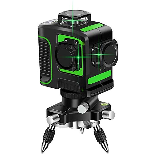 Topkar Green Beam 3D Self-Leveling 3x360 Cross Line Three Plane Laser Level(with 360° Rotating Base)