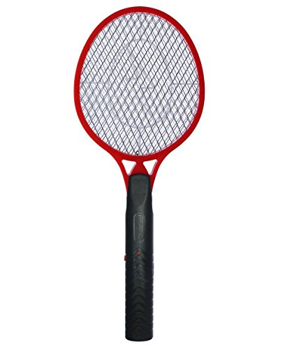 Koramzi Torch Mosquito Swatter, Mosquito Racket, Bug Zapper with AA Battery F-7 (Red)