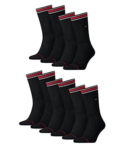 Tommy Hilfiger Herren Socken Iconic Sport 4er Pack, Größe:43-46, Farbe:Black (200)