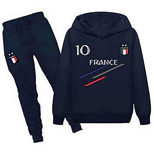 JHK Jogging survêtement de Football France 2 étoiles Enfant - Bleu - 7/8 Ans