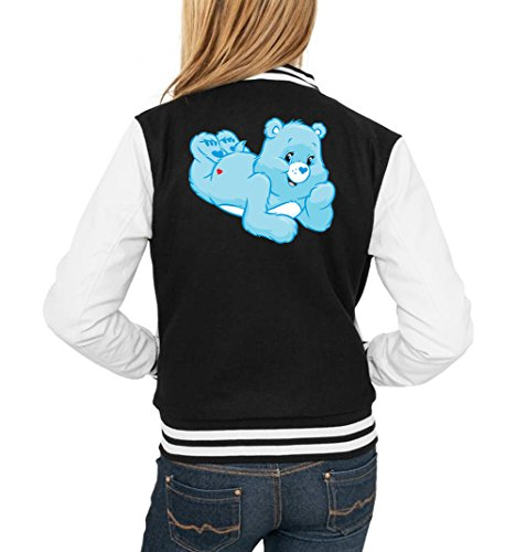 Certified Freak Good Night Bear College Vest Girls Black S