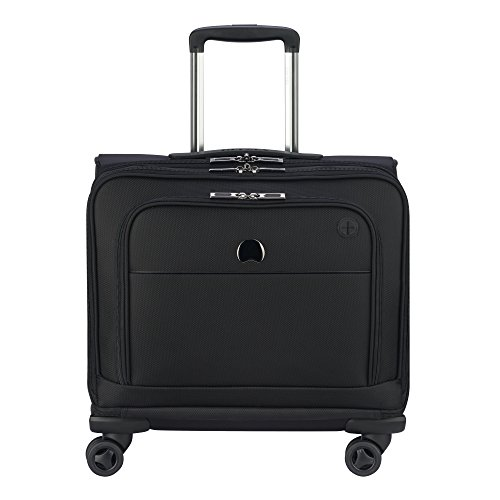 DELSEY Paris 4 Wheel Spinner Mobile Laptop Briefcase, Black, One Size