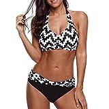 TOPKEAL Damen Push up Bikini-Sets Frauen Bademode BH Bikinioberteil Plus Size Print Badeanzug...