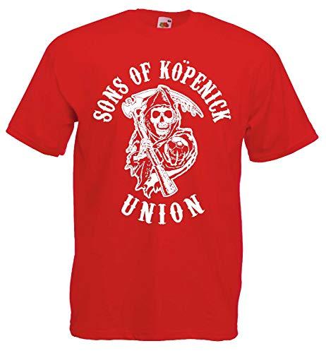 Union Sons of Köpenik Herren T-Shirt S-XXXL rot M
