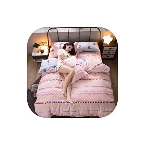 Moily Fayshow Bettwäsche-Set Pflanze Baumwolle Kaschmir Eindickung Schleifen 4Pcs Schlaf Bettwäsche Bettbezug, 02,1.5M