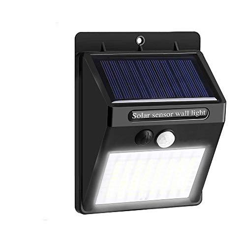 AOMEES Solarlampen für Außen mit Bewegungsmelder Aussen 30 LED Solar Bewegungsmelder Außen IP65 Solarleuchten für Außen 120° Weitwinkel(1 pack)