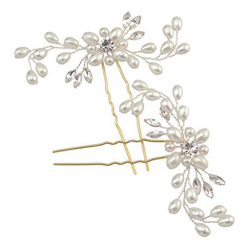 Dinglong Headwear Boutique,Fleur De Perle Fraîche Branche Dentelle à La Main Tricoté Diadème En épingle à Cheveux Dames Bijoux De Mariée
