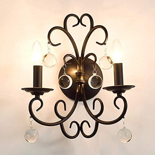 HDDD Erosb Wandlamp, Amerikaanse stijl, wandlamp met kristallen bollen, leeslamp voor woonkamer, slaapkamer, creatief, decoratieve lampen modern