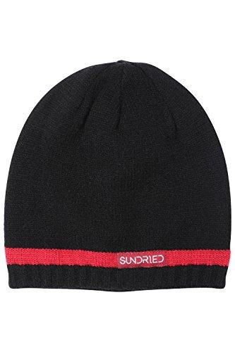 Sundried Beanie Sombrero Ultra Caliente de Doble Capa de Punto para Hombre Mejor para Invierno y para Mujer Negro (Negro, un tamaño)