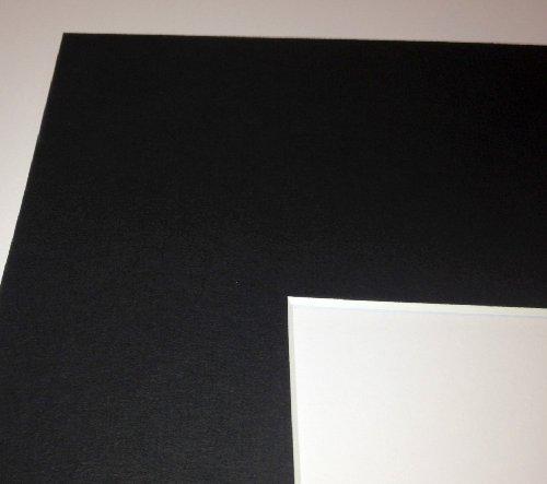 Passepartout Schwarz 21 x 29,7 cm, Passepartout A4 mit Ausschnitt für 18x24 cm Bilder - 1 Stück
