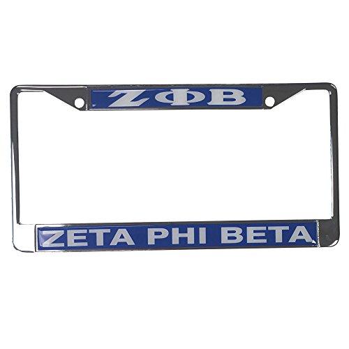 Zeta Phi Beta Standard Letters/Name Silver License Plate Frame