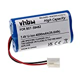 vhbw Batería Recargable reemplaza Bestway BST-58482 para Limpiador Piscina (4000 mAh, 7,4 V, Li-Ion)