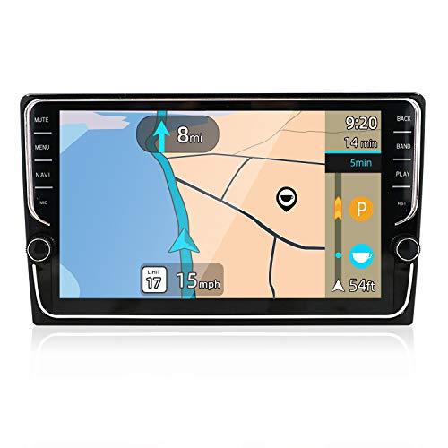 YUNTX PX6 Android 10 Doppel Din Autoradio - 4G+64G - 9 Zoll - GPS 1 Din Bluetooth 4.0 mit Rückfahrkamera - Unterstützt DAB+ / Lenkradsteuerung / 4G / WiFi/Bluetooth/Mirrorlink/HDMI/Carlink/USB