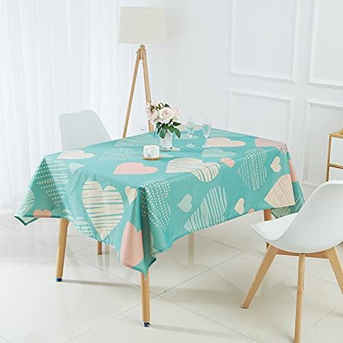 XXDD Mantel geométrico Simple con diseño de Rayas y Ondas de Amor, Mantel de decoración de Escritorio para el hogar, Restaurante, Cocina, A5 140x180cm