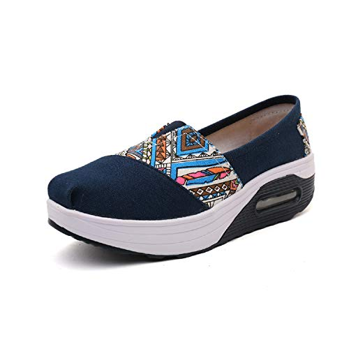 Zomine vrouwen Casual wandelen schoenen Slip op hoge hak Fitness verpleegkundige schoenen Dikke onderkant hardlopen Sneakers Air Kussen Werk Schoenen