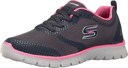 Skechers Women's EZ Flex 3.0 - Ready-to-Roll Navy/Hot Pink Sneaker 7.5 B (M)
