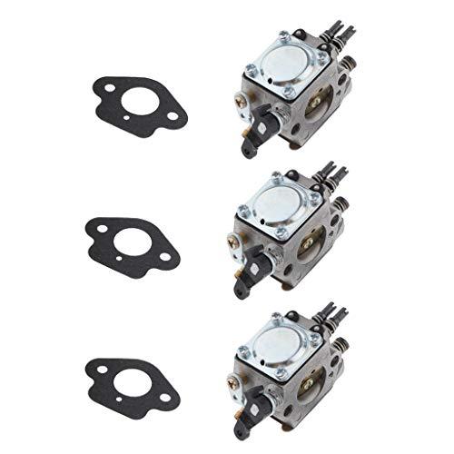 freneci Carburador de Motosierra de 3 Piezas para Cortacésped, Compatible con 51 55 Reemplaza a 503281504