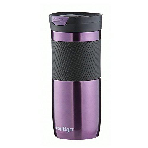 Contigo Byron Snapseal Gourde unisexe pour adulte en acier inoxydable avec couvercle anti-fuite et anti-BPA 470 ml, Mixte, 1000-0514, violet, 470 ml