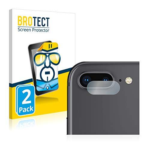 BROTECT Protector Pantalla Compatible con Apple iPhone 8 Plus (sólo Cámara) Protector Transparente (2 Unidades) Anti-Huellas