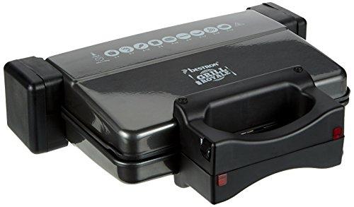 Bestron ACG2000 Maxi  Kontaktgrill aufklappbar mit zwei Thermostaten