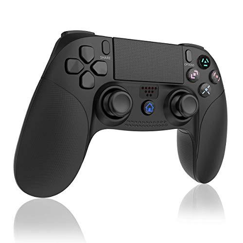 TUTUO Manette pour PS4, Bluetooth Vibration Feedback Manette de Jeu avec USB Rechargeable, Contrôleur de Jeu sans Fil Wireless Gamepad pour Playstation 4/PS4 Slim/PS4 Pro/PS3