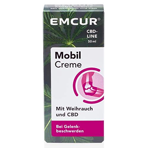 Emcur® Mobil Creme mit Weihrauch und 100% synthetischem CBD | Bei Gelenkschmerzen und Gelenkbeschwerden | CBD-Creme | Pflegende Gelenk-Creme mit Cannabidiol | 50 ml
