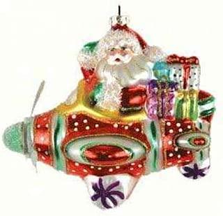 Cobane Studio LLC COBANEE353 Santa Airplane Ride Ornament