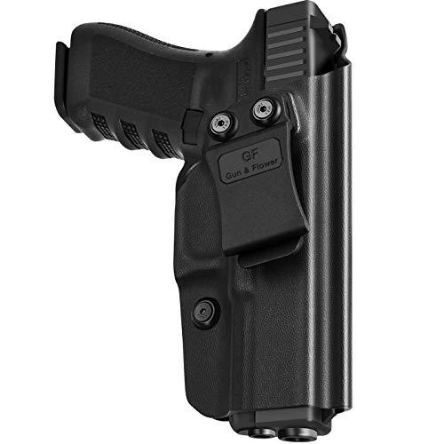 KYDEX IWB Holster for Glock 19 | Glock 17 | Glock 26 | Glock 19x |Glock 23|Glock 31 32 33 45(Gen 3 4 5) Concealed Carry Holster Gun 9mm for Men/Women--Adj.Cant Retention