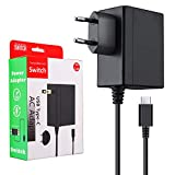 ECHTPower Cargador nintendo switch, Adaptador de Corriente para Switch, 15V/2.6A Carga Rápida USB Tipo C, Compatible con Modo TV/Nintendo Switch/Switch Lite/otros Dispositivos de Tipo C (1,5M)