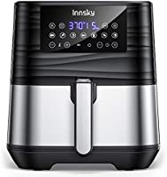 Innsky Air Fryer XL 5.8 QT, 【2021 Upgraded】 11 in 1 Oilless Air Fryers Oven, Easy One Touch Screen with Preheat & Delay...