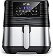 Innsky Air Fryer XL 5.8 QT, 【2021 Upgraded】 11 in 1 Oilless Air Fryers Oven, Easy One Touch Screen with Preheat & Delay Start, ETL Listed, Airfryer 1700W for Air Fry, Roast, Bake, Grill, Recipe Book