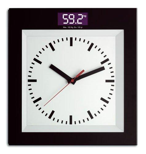 TFA 60.3000.01Báscula con reloj de cuarzo, Negro/Weiãÿ by TFA Dostmann