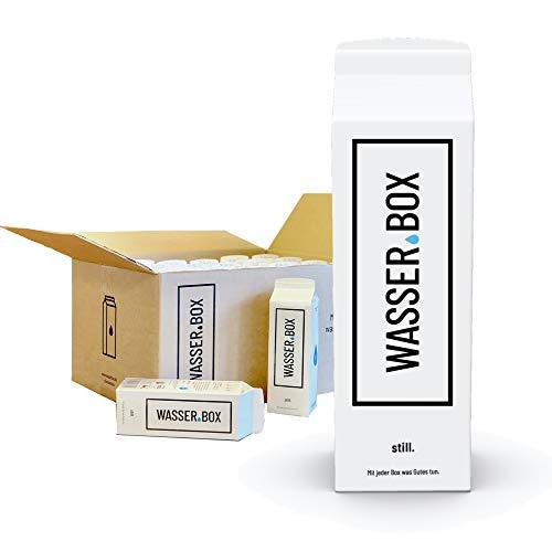WasserBox Naturell | Stilles Wasser ohne Kohlensäure | ideal für unterwegs | 24er Pack | PFANDFREI (24 x 0,5 l im Karton)