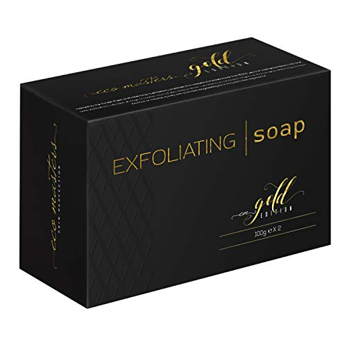 Peeling Seife (2er-Pack) - 100% natürlich mit Salicylsäure & Süßmandel - Reinigung für Gesicht & Körper bei Pickel & Anti-Mitesser - Peeling Soap für die Haut - Spendet Feuchtigkeit & Reinigt